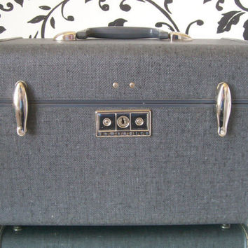 20 PERCENT OFF Rare Samsonite Train Case Ebony Grey use MEMORIALDAY20 as code