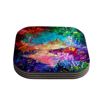 "Ebi Emporium ""Welcome to Utopia"" Rainbow Coasters (Set of 4)"