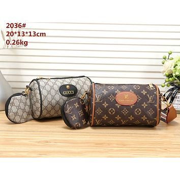 LV & GUCCI Tide brand women's canvas shoulder Messenger bag