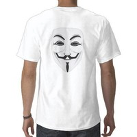 Anonymous Guy Fawkes T-shirt from Zazzle.com