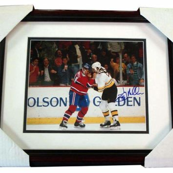 Autographed Jay Miller Framed Fight 8x10 Photo