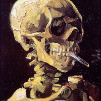 Vincent van Gogh - Smoking Skeleton - Poster