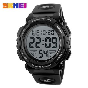 High Quality Original SKMEI MEN LED Digital Watches 50M Big Dial Shock Chrono Calender Alarm Clock Man Relogio Masculino 1258