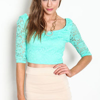 Eyelet Scoopback Crop Top - LoveCulture