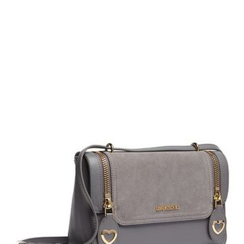 LOVE Moschino | Metal Hearts Zipper Crossbody Bag | Nordstrom Rack