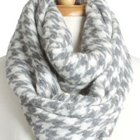 Grey Hounds-Tooth Scarf