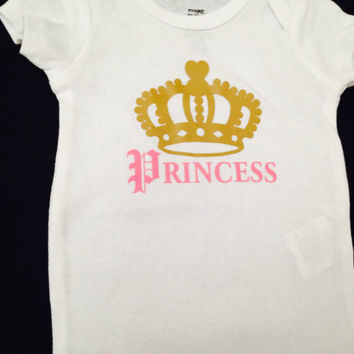 Baby girl cute Onesuit-- Newborn princess Onesuit--Ready to ship