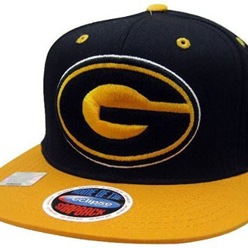 NCAA Grambling State Tigers Logo Style Snapback Hat, Black/Gold