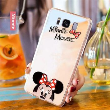 sFor Samsung S8 Case Samsung S9 Mirror Cartoon Mickey Minnie Hello kitty Plating Soft Phone Case For Samsung S8 S9 Plus note 8