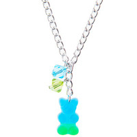 Gummy Bear Necklace - Blue and Green