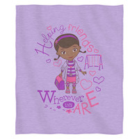Doc McStuffins Doc Love  Sweatshirt Throw (50 x 60)