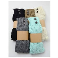 Cute and Cozy Tall Knit Boot Socks with Button Accents