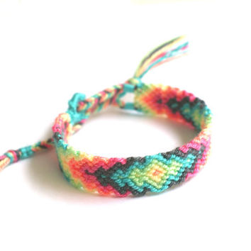 Friendship Bracelet. Pastel Love. by makunaima on Etsy