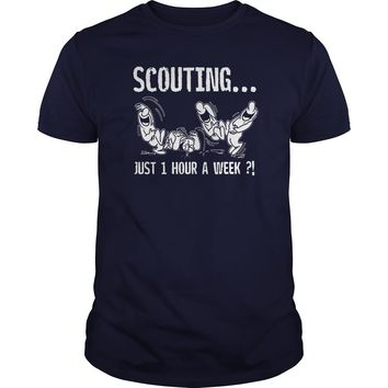 Scouting just 1 hour a week shirt Premium Fitted Guys Tee