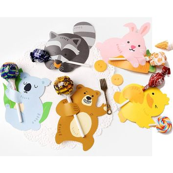 50Pcs/Animal Lollipop Holder