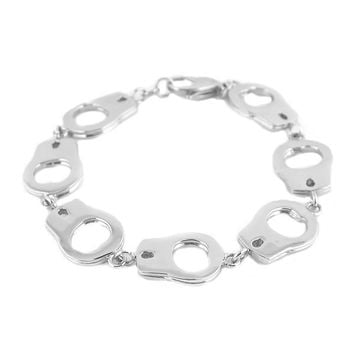 Large handcuff stainless steel bracelet