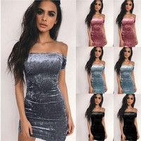 2018 women's tight hip - wrapped dress