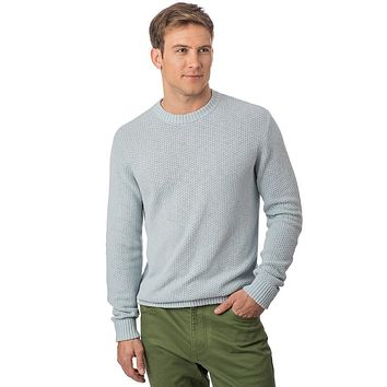 Waffle Knit Sweater in Slate Grey by Southern Tide