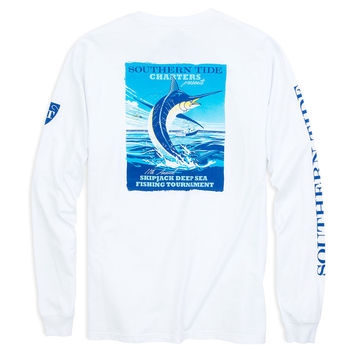 Skipjack Tournament Long Sleeve T-Shirt in Classic White by Southern Tide