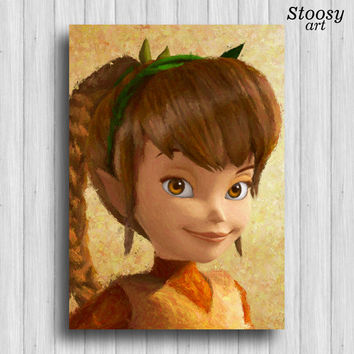 Fawn disney fairies print tinkerbell art