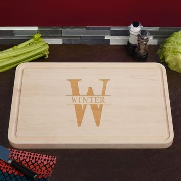 Grandiose Oakmont Engraved Maple Wood Cutting Board, 15 x 23 (1.25 inc