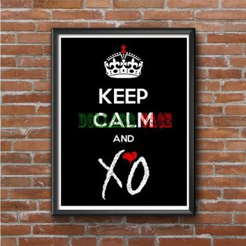 Keep Calm And Love Xo Photo Poster