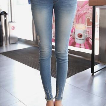837 Denim Maternity Belly Pencil Jeans Elegant Pregnant Trousers Skinny Pants for Pregnancy Women New Fashion Plus Size 2XL = 1946422724
