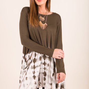 Just My Luck Dress, Olive