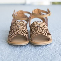 SZ 5.5 Heaven And Earth Tan Sandals