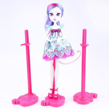 Dolls Stand Display Holder Purple Pink Blue For Monster High dolls Ever After High Doll Dolls Accessories
