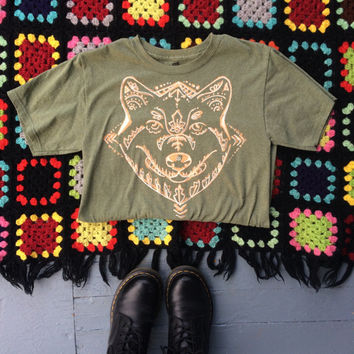 READY TO SHIP! wolf tee - small