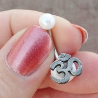 Om Ohm Belly Button Ring Jewelry