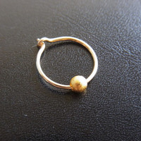 14k Gold filled Nose hoop with gold filled bead / nose ring / Cartilage - Customized