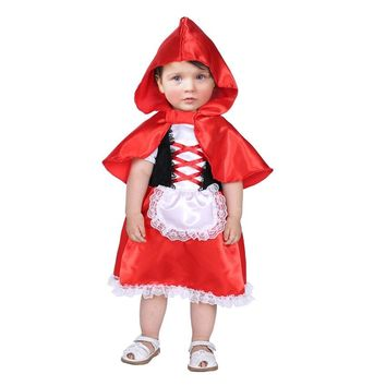 Umorden Carnival Party Halloween Costumes Toddler Baby Little Red Riding Hood Costume Cosplay for Baby Girl Fancy Dress