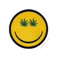 Weed Indeed Pot Smiley Patch on Sale for $4.99 at HippieShop.com