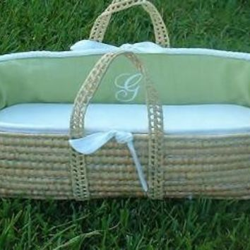 Monogram Series Celery Moses Basket