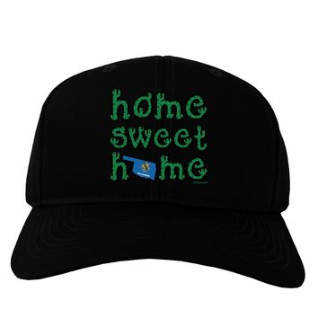 Home Sweet Home - Oklahoma - Cactus and State Flag Adult Dark Baseball Cap Hat by TooLoud
