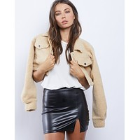 Victoria Faux Leather Skirt