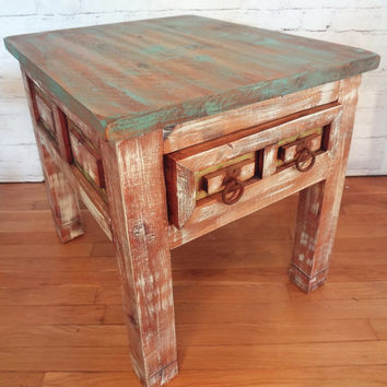 Rustic Shabby Chic Side End Table