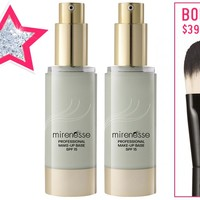 *SP Cover Redness Like a Pro - Professional Edge Make Up Base Primer Foundation Smoothing Brush TRIO! - Mirenesse