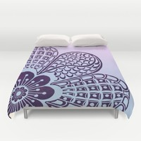 Floral Blush Duvet Cover by Inspired Images