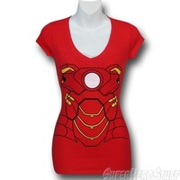 Iron Man Juniors V-Neck Costume Shirt