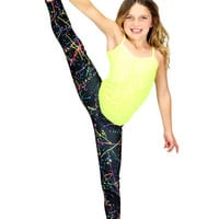 Dirtee Hollywood Neon Splatter Leggings | Mod Angel