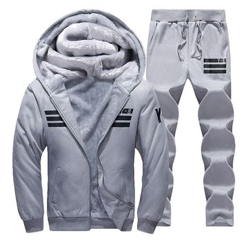 Sporting Suit Men Winter Tracksuits