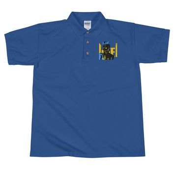 African Gunner Embroidered Polo Shirt