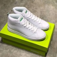 """Adidas Neo"" Fashion Simple Unisex Sport Casual Leather High Help Plate Shoes Couple Sneakers"