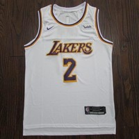 Men's Los Angeles Lakers #2 Lonzo Ball Association Edition White Jerseys - Best Deal Online