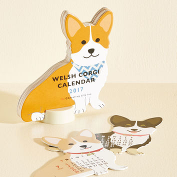 Year of the Critter 2017 Calendar in Corgi | Mod Retro Vintage Desk Accessories | ModCloth.com