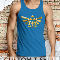 The Legend of Zelda Triforce Men Tanktop - Lzi Tanktop For Men  / Custom - Tanktop / Men Tanktop