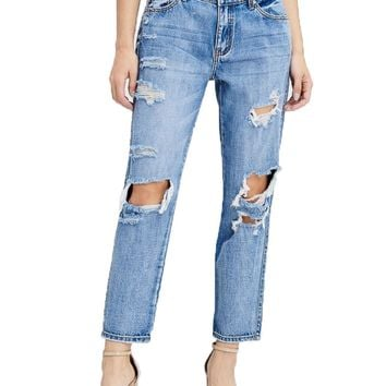 Kan Can Medium Wash Canon-May Boyfriend Jeans